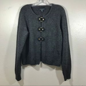 Cynthia Rowley gray sweater acrylic/polyester XL